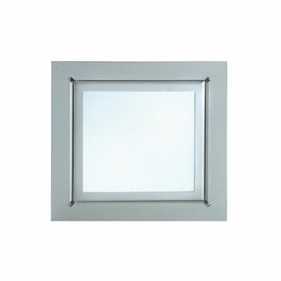 In-Wall Four Light Recessed Light in Stainless Steel