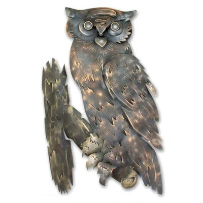 Novica 'Curious Owl' Wall Décor