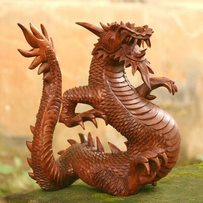Novica 'Legendary Dragon' Sculpture