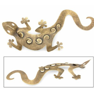 Novica 'Golden Gecko' Wall Adornment