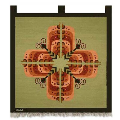 Novica 'Cross of Butterflies' Tapestry