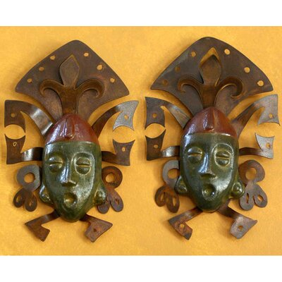 'Maya Masks' Wall Adornment (2 Piece)