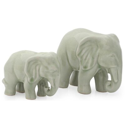Novica 2 Piece Lovely Family Figurine Set