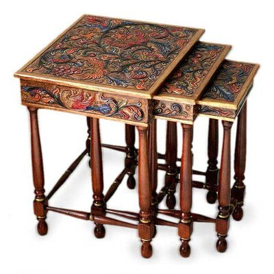 Novica Paradise 3 Piece Nesting Tables