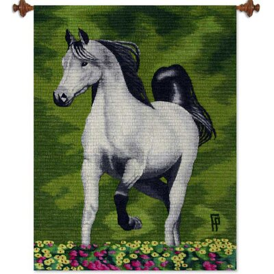 'Proud White Horse' Tapestry