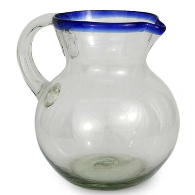 Cobalt Ring Glass pitcher
