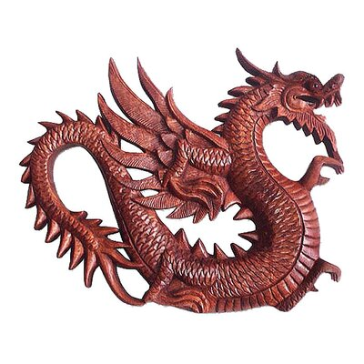 'Winged Dragon Figure' Wall Panel