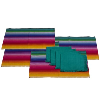 Novica Komon Utzil Artisan Cotton Placemat and Napkins (Set of 8)