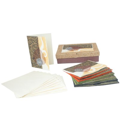 Novica The Teerasak Chaiwong Artisan Thai Wind Saa Paper Greeting Card (Set of 8)