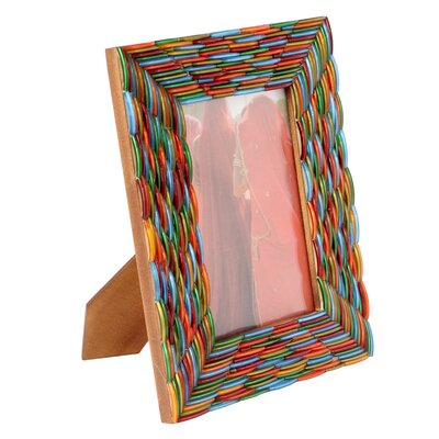 Novica Kamal Artisan Bangalore Bangles Glass Photo Frame