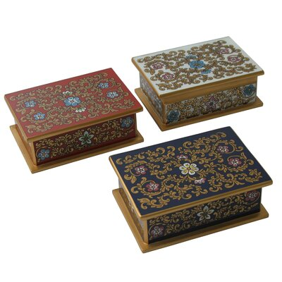 Asunta Pelaez Painted Glass Boxes (Set of 3)