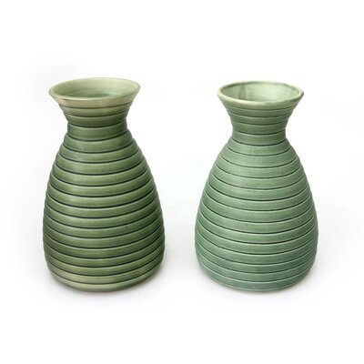 Putu Oka Mahendra Artisan Ceramic Vases (Set of 2)