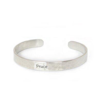 The Withaya Cheunjit Artisan Sterling Silver Peace Cuff Bracelet