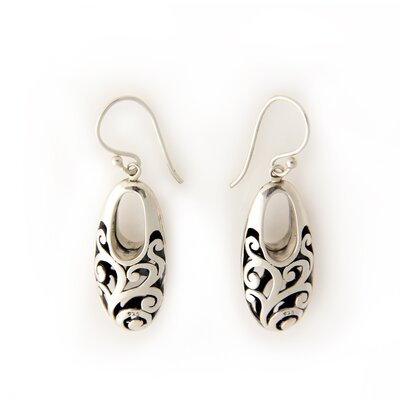 Novica The Ni Wayan Astiti Artisan Karangasem Castle Sterling Silver Dangle Earrings