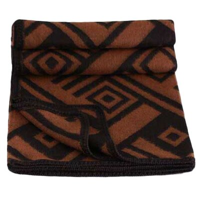 Novica Shadow Labyrinths Wool / Acrylic Throw Blanket