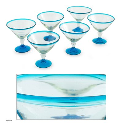 Novica The Javier and Efren Martini Glass