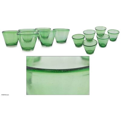 Novica The Javier and Efren Handblown Recycled Juice Glass