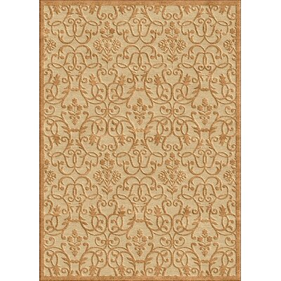 nuLOOM Veranda Swirly Leaves Sand/Fawn Rug