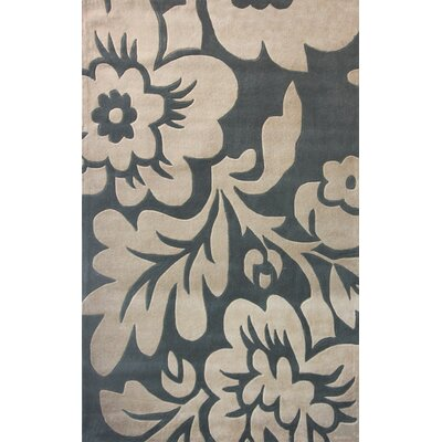 nuLOOM Cine Bold Floral Slate Rug