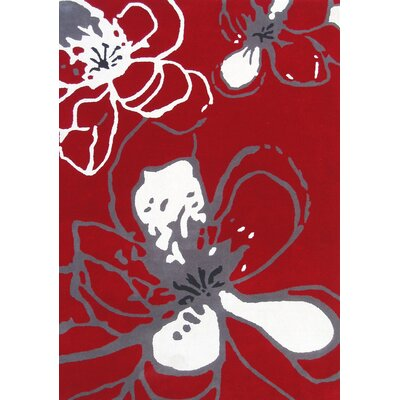 nuLOOM Modella Urban Fleur Red Rug