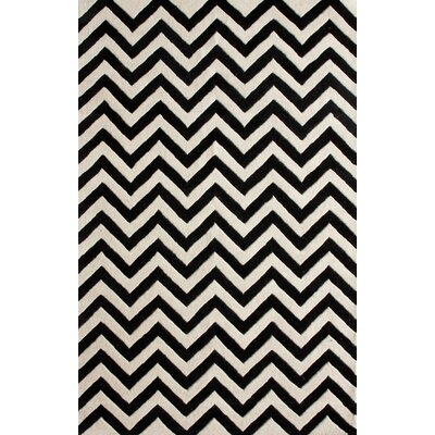 nuLOOM Magnifique Chevron Black Rug