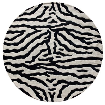 nuLOOM Earth Zebra Wool Handmade Zebra Black Rug