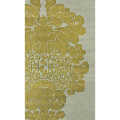 nuLOOM Bella Modern Damask Yellow Rug