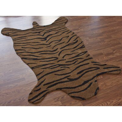 nuLOOM Safari Tiger Brown Rug