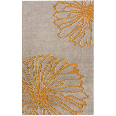 nuLOOM Gradient Yellow Floral Rug