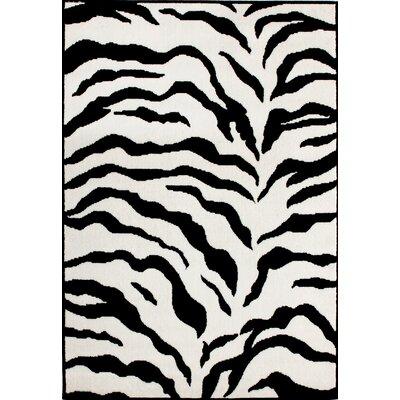 nuLOOM Earth Zebra Print Black & Ivory Rug