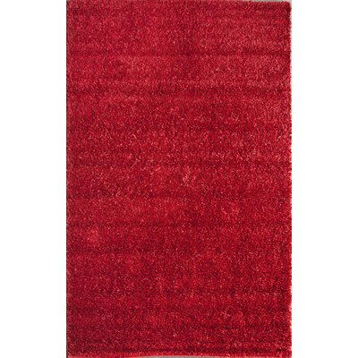 nuLOOM Shaggy Aura Really Red Rug