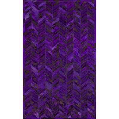 nuLOOM Hudson Chevron Grape Rug