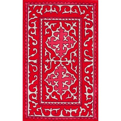 nuLOOM KinderLOOM Edison Red Rug