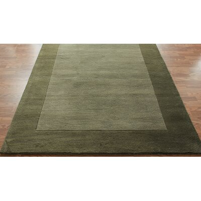 nuLOOM Bella Solid Border Green Rug