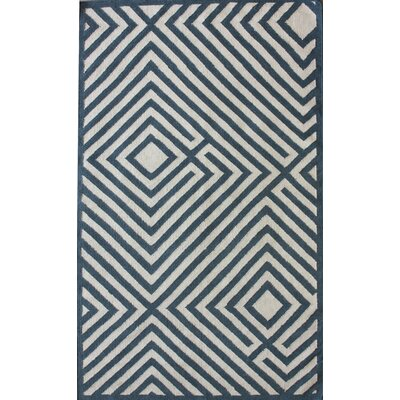nuLOOM Couture Kilim Diamond Denim Rug