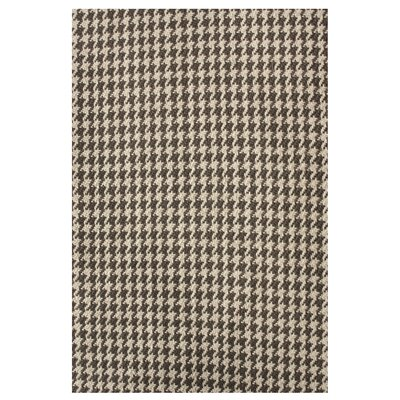 nuLOOM Natura Houndstooth Brown Rug