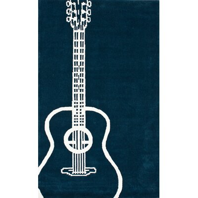 nuLOOM Cine Guitar Teal Novelty Rug