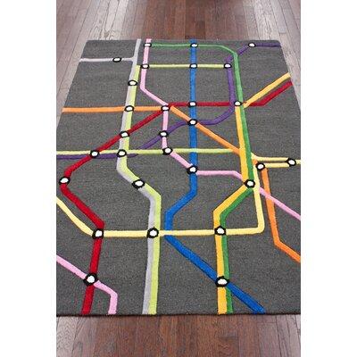 nuLOOM KinderLOOM Subway Multi Kids Rug