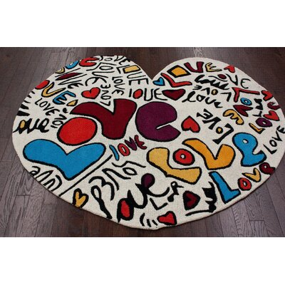 nuLOOM KinderLOOM Heart Multi Kids Rug