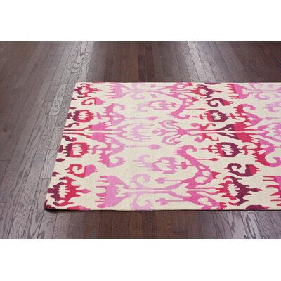 nuLOOM Pop Lanterns Ikat Dragon Fruit Rug