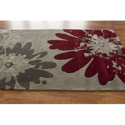 nuLOOM Pop Bold Floral Grey Rug