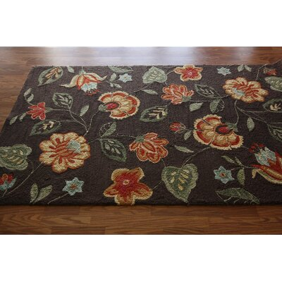 nuLOOM Pop Bold Floral Chic Brown Rug