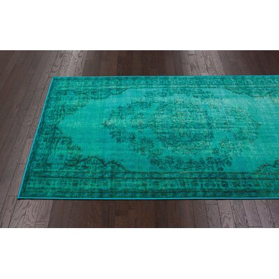 nuLOOM Remade Distressed Overdyed Turquoise Rug