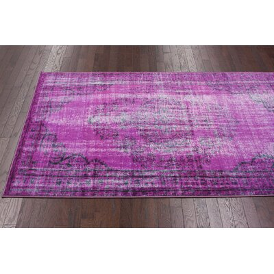 nuLOOM Remade Distressed Overdyed Violet Rug