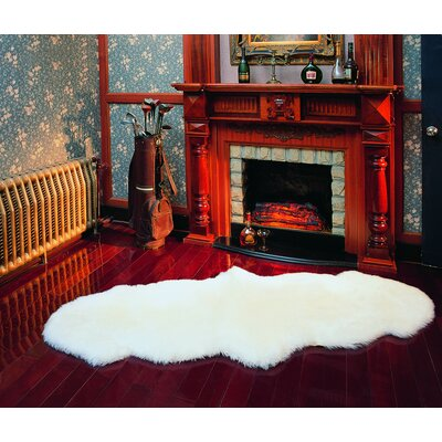 nuLOOM Sheepskin Shag Double Sheepskin Natural Rug