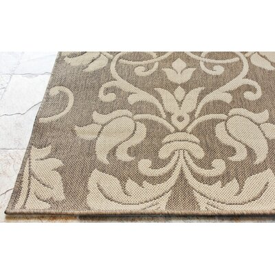 nuLOOM Villa Outdoor Ruskea Brown Rug