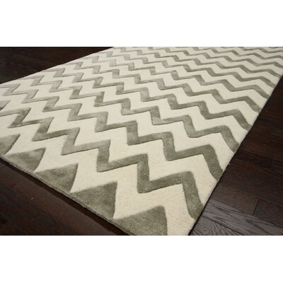 nuLOOM Fancy Silver Chevron Rug