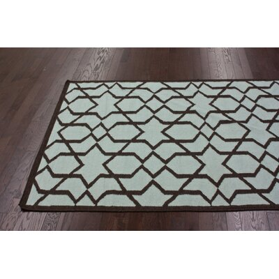 nuLOOM Gelim Light Blue Trellis Rug