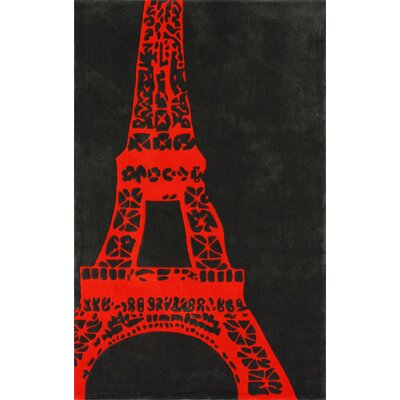nuLOOM Cine Orange Viva La France Novelty Rug