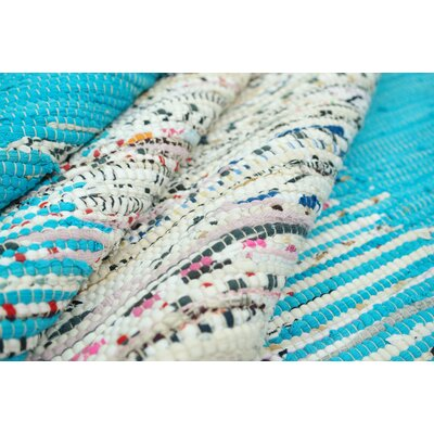 nuLOOM Munegu Turquoise Talia Rag Rug